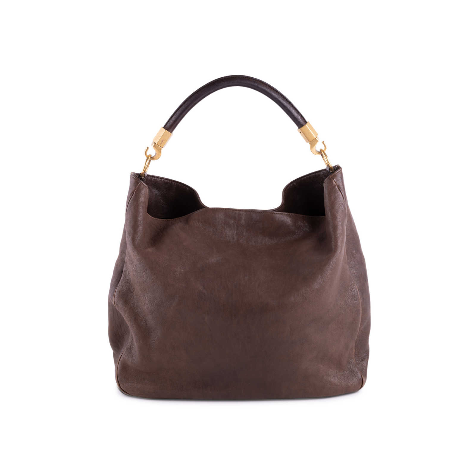 Authentic Second Hand Yves Saint Laurent Roady Leather Hobo