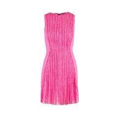 Barbara Pleated Lace Dress