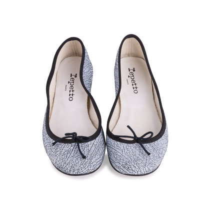 Authentic Second Hand Repetto Cracked Leather Ballerinas (PSS-033-00008)