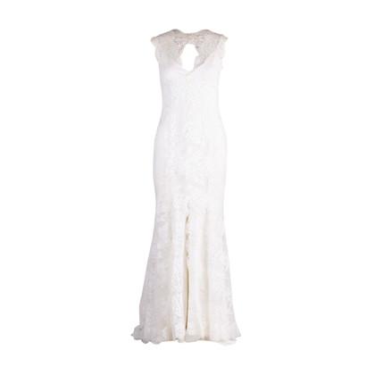 Authentic Second Hand Monique Lhuillier Chantilly Lace Open Back Gown (PSS-459-00030)