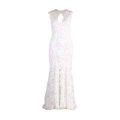 Chantilly Lace Open Back Gown
