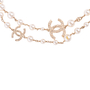Authentic Second Hand Chanel Faux Pearl and CC Logo Necklace (PSS-037-00015) - Thumbnail 1