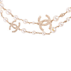 Chanel faux pearl and cc logo necklace 2?1553751719