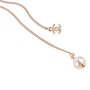 Authentic Second Hand Chanel Faux Pearl and CC Logo Necklace (PSS-037-00015) - Thumbnail 2