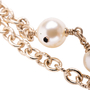 Authentic Second Hand Chanel Faux Pearl and CC Logo Necklace (PSS-037-00015) - Thumbnail 3