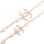 Authentic Second Hand Chanel Faux Pearl and CC Logo Necklace (PSS-037-00015) - Thumbnail 5