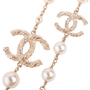 Authentic Second Hand Chanel Faux Pearl and CC Logo Necklace (PSS-037-00015) - Thumbnail 6