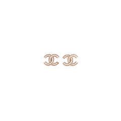 Faux Pearl Logo Stud Earrings