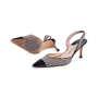 Authentic Second Hand Manolo Blahnik Checkered Slingback Pumps (PSS-244-00012) - Thumbnail 1