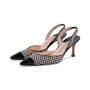 Authentic Second Hand Manolo Blahnik Checkered Slingback Pumps (PSS-244-00012) - Thumbnail 3