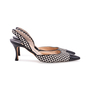 Authentic Second Hand Manolo Blahnik Checkered Slingback Pumps (PSS-244-00012) - Thumbnail 4