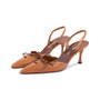 Authentic Second Hand Manolo Blahnik Lace Up Slingbacks (PSS-244-00013) - Thumbnail 3