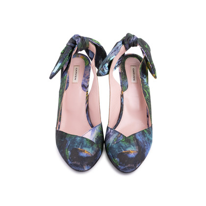 Authentic Second Hand Carven Botanical Slingback Bow Pumps (PSS-244-00014)