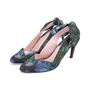 Authentic Second Hand Carven Botanical Slingback Bow Pumps (PSS-244-00014) - Thumbnail 2