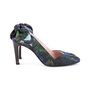 Authentic Second Hand Carven Botanical Slingback Bow Pumps (PSS-244-00014) - Thumbnail 1