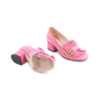 Authentic Second Hand Gucci Pink Marmont 50 Suede Pumps (PSS-117-00013) - Thumbnail 2