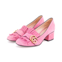 Authentic Second Hand Gucci Pink Marmont 50 Suede Pumps (PSS-117-00013) - Thumbnail 3