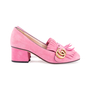 Authentic Second Hand Gucci Pink Marmont 50 Suede Pumps (PSS-117-00013) - Thumbnail 4