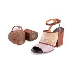 Dries van noten velvet and glitter suede sandals 2?1554094918