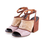 Authentic Second Hand Dries Van Noten Velvet and Glitter Suede Sandals (PSS-117-00016) - Thumbnail 3