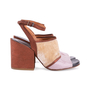 Authentic Second Hand Dries Van Noten Velvet and Glitter Suede Sandals (PSS-117-00016) - Thumbnail 4