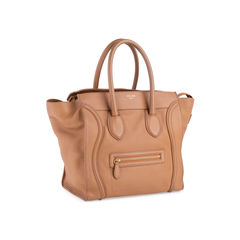 Celine mini luggage tote brown 2?1554095079