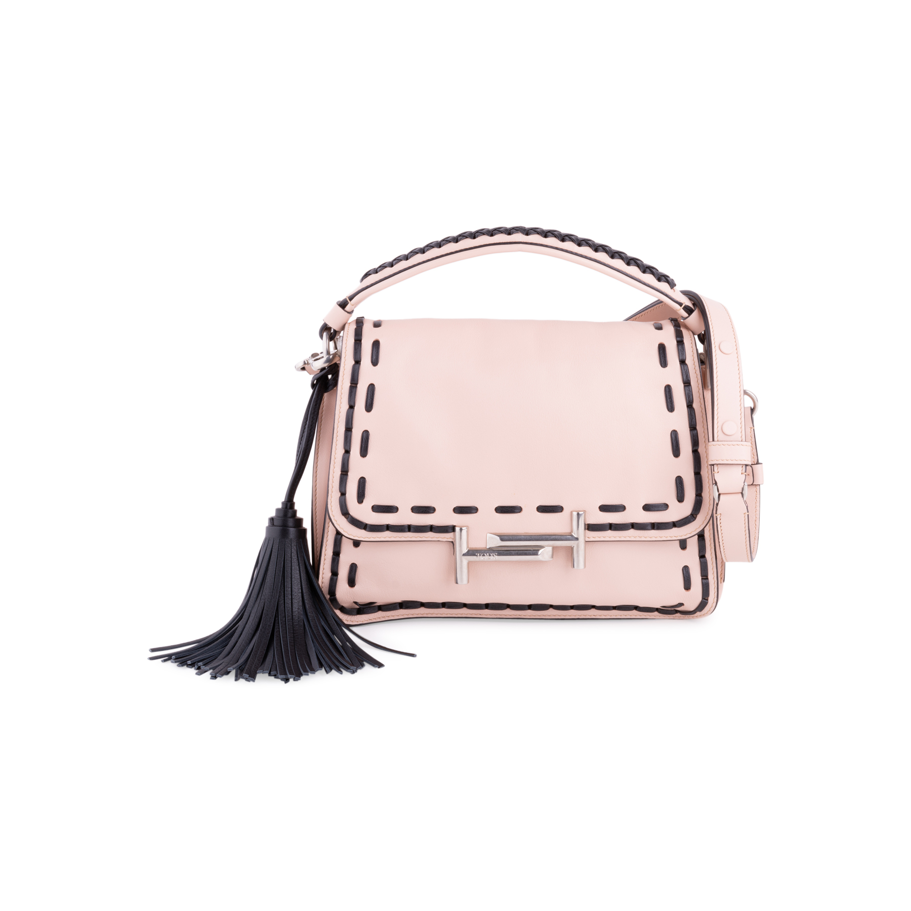 044d4032ac2 Authentic Second Hand Tod's Stitched Double T Crossbody Bag (PSS-117-00007)  - THE FIFTH COLLECTION