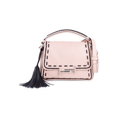 Stitched Double T Crossbody Bag