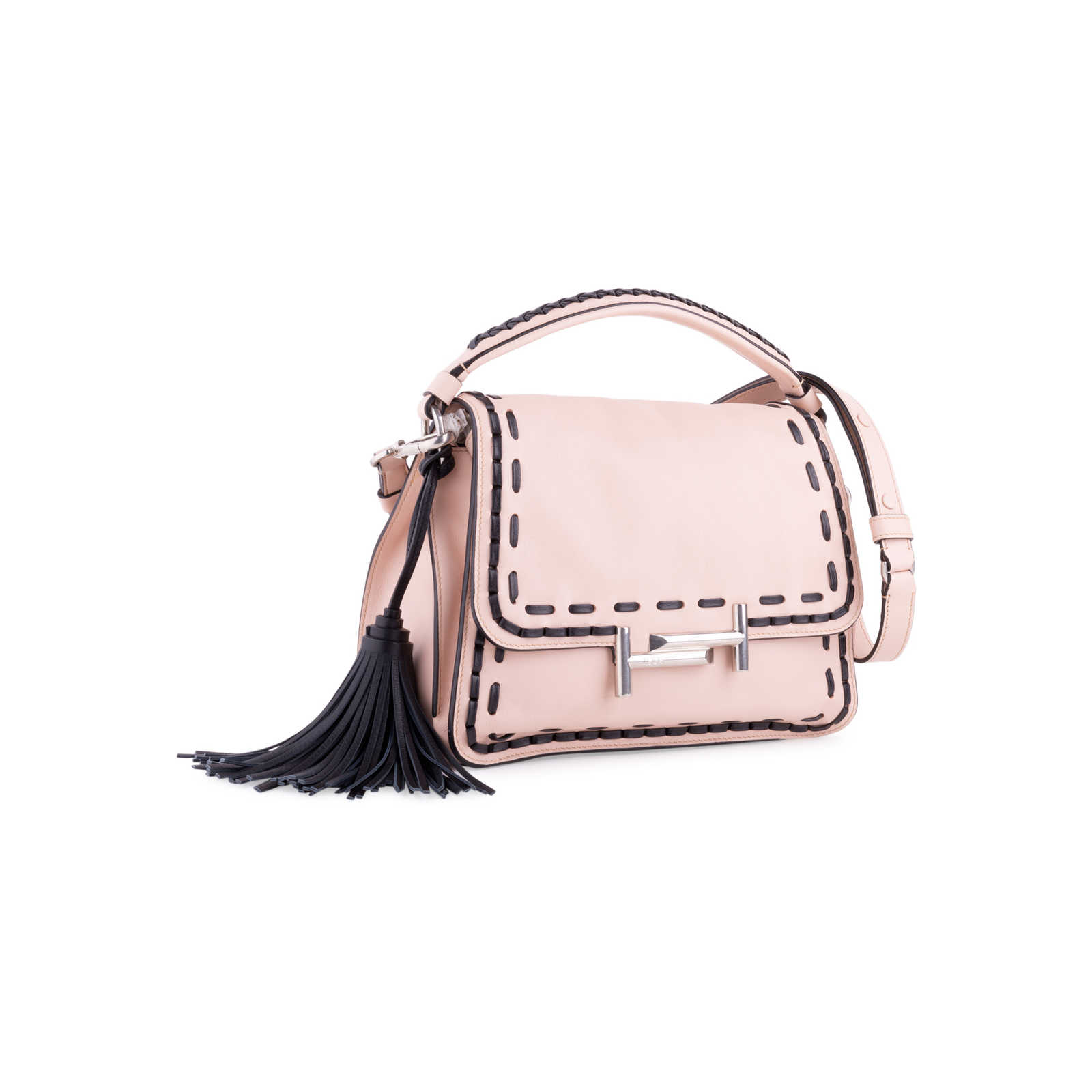 60518638ebf ... Authentic Second Hand Tod's Stitched Double T Crossbody Bag  (PSS-117-00007) ...