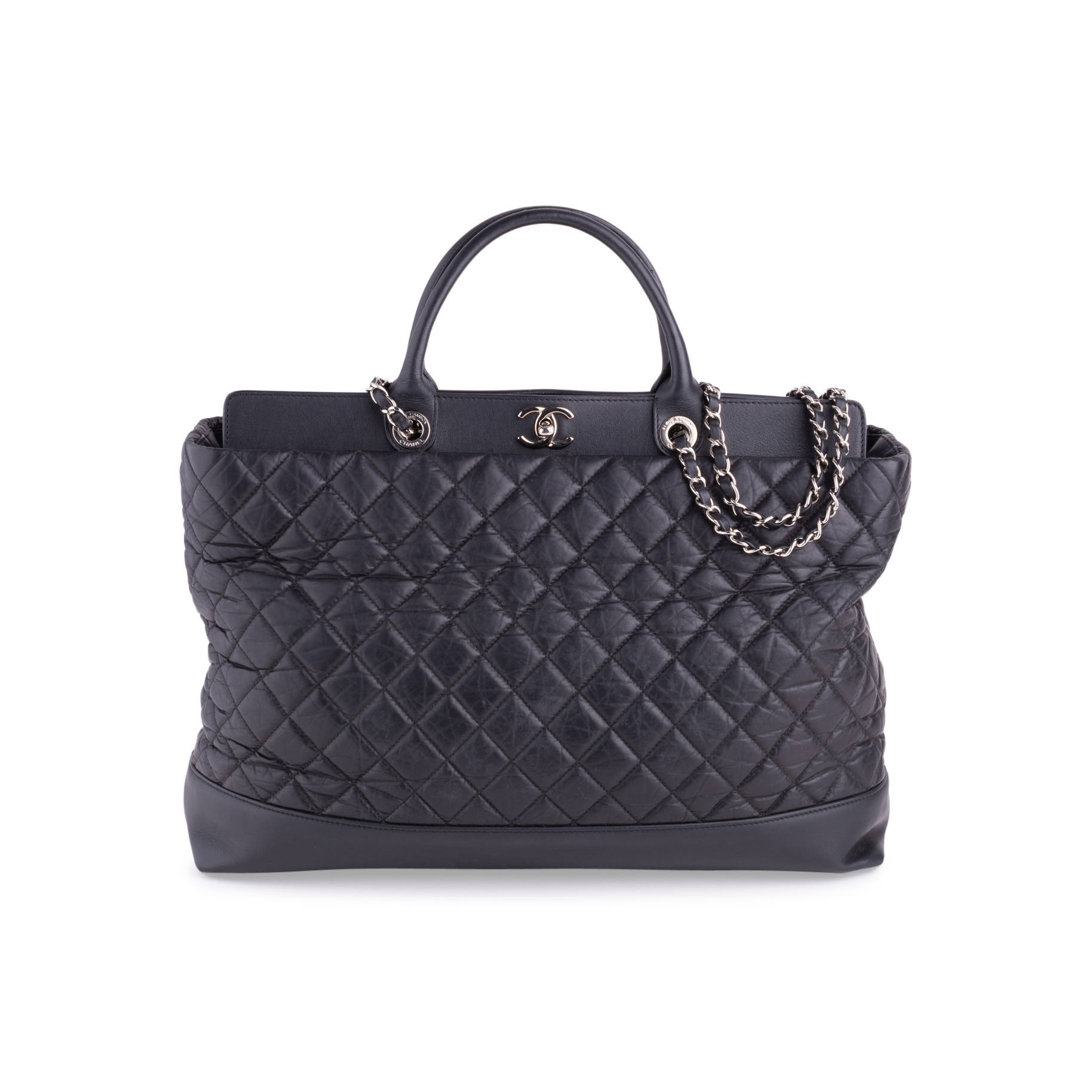 48263deca8857d Authentic Second Hand Chanel Be CC Tote Large Bag (PSS-636-00027) | THE  FIFTH COLLECTION
