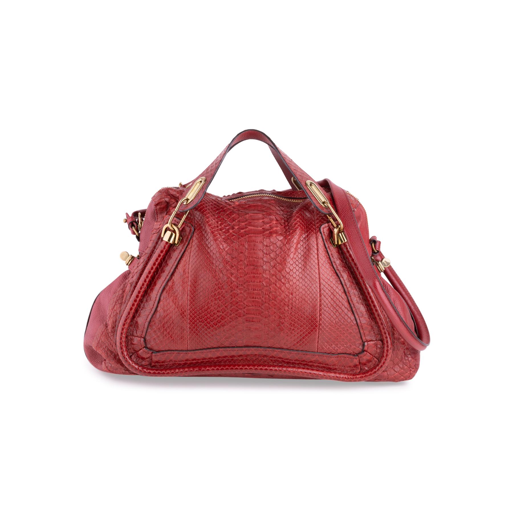 17dabea369c Authentic Second Hand Chloé Medium Python Paraty Bag (PSS-636-00033 ...