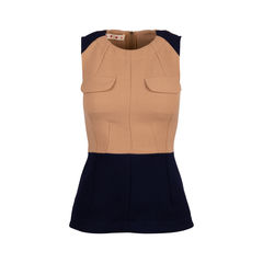 Colour Block Flared Top