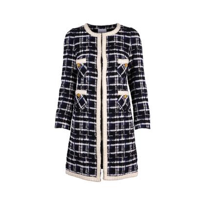 Authentic Second Hand Edward Achour Paris Tweed Coat (PSS-117-00029)