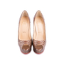 Authentic Second Hand Christian Louboutin Python Amor Lady Peep Pumps (PSS-225-00039) - Thumbnail 0