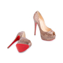 Authentic Second Hand Christian Louboutin Python Amor Lady Peep Pumps (PSS-225-00039) - Thumbnail 2