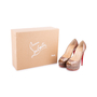 Authentic Second Hand Christian Louboutin Python Amor Lady Peep Pumps (PSS-225-00039) - Thumbnail 6