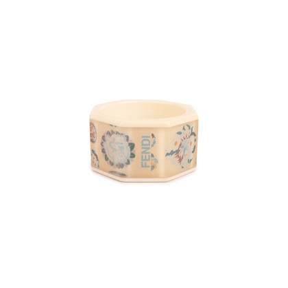 Authentic Second Hand Fendi Floral Acrylic Bangle (PSS-420-00077)