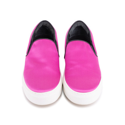 Authentic Second Hand Céline Satin Slip-On Sneakers (PSS-420-00082)