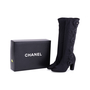 Authentic Second Hand Chanel Camellia Satin Sock Boots (PSS-200-01627) - Thumbnail 6