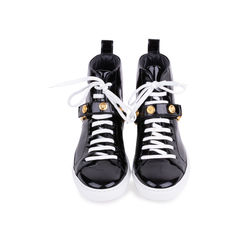 Patent High Top Sneakers