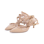 Authentic Second Hand Valentino Nude Rockstud Cage Pumps (PSS-200-01631) - Thumbnail 3