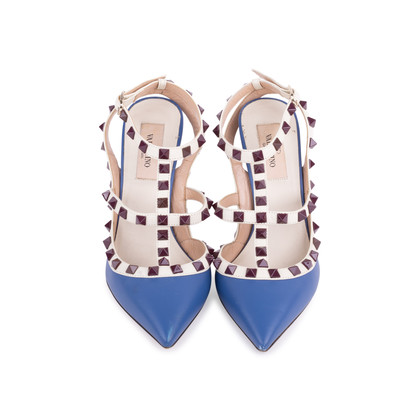 Authentic Second Hand Valentino Rockstud Slingback Pumps (PSS-200-01632)