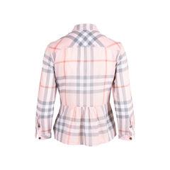 Burberry brit plaid peplum blouse 2?1554891749