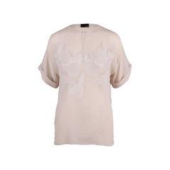 Sheer Silk Appliqué Top