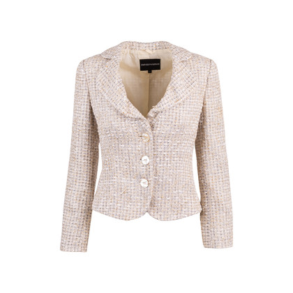 Authentic Second Hand Emporio Armani Metallic Tweed Jacket (PSS-642-00005)