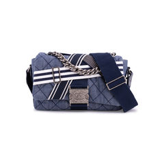 Chanel Airlines Denim and Toile Flap Bag