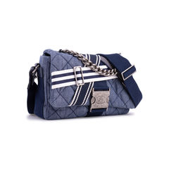 Chanel chanel airlines denim and toile flap bag 2?1555051367