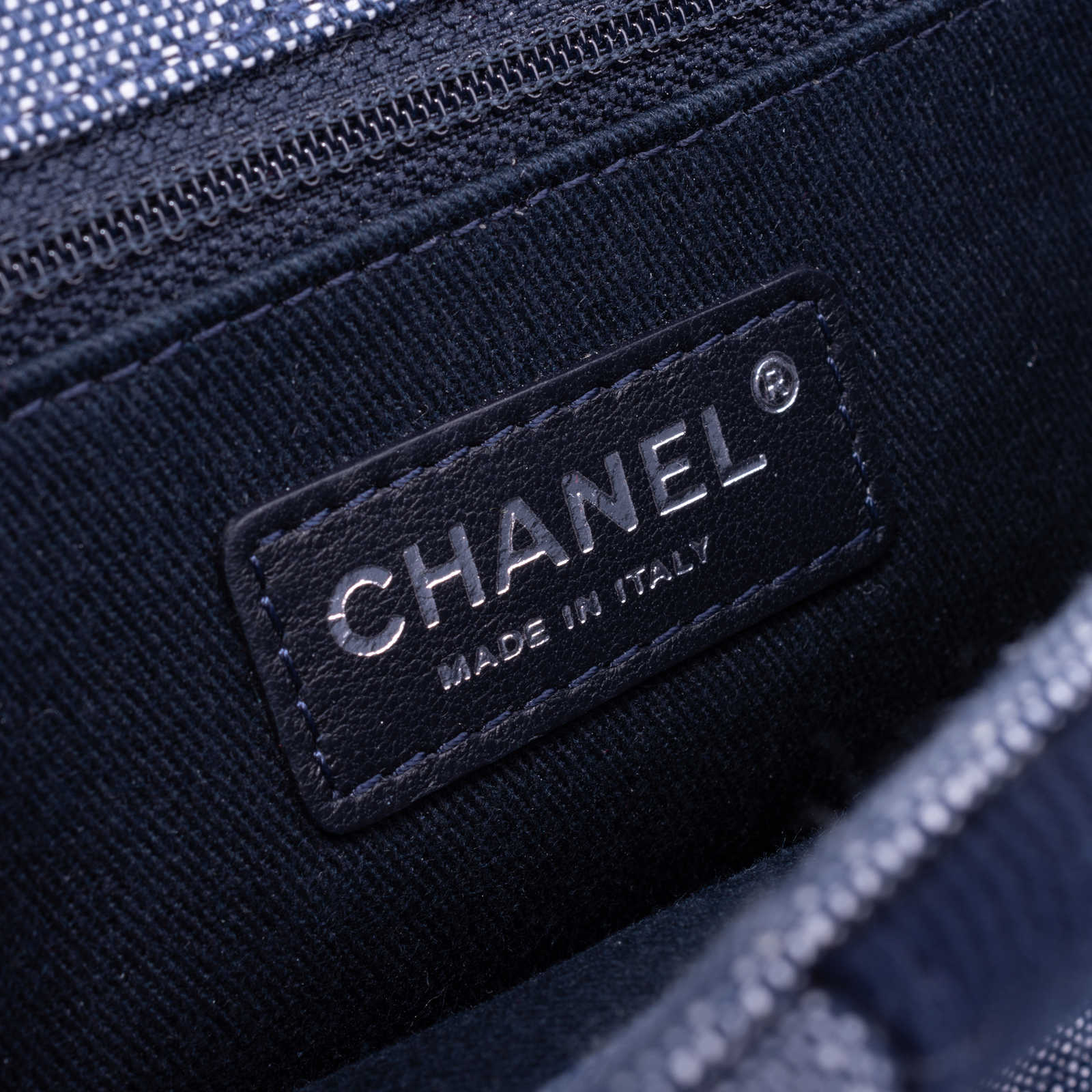 c59450288adc ... Authentic Second Hand Chanel Chanel Airlines Denim and Toile Flap Bag ( PSS-200-
