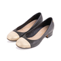 Authentic Second Hand Chanel Gold Cap Toe Pumps (PSS-643-00005) - Thumbnail 1