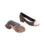Authentic Second Hand Chanel Gold Cap Toe Pumps (PSS-643-00005) - Thumbnail 5
